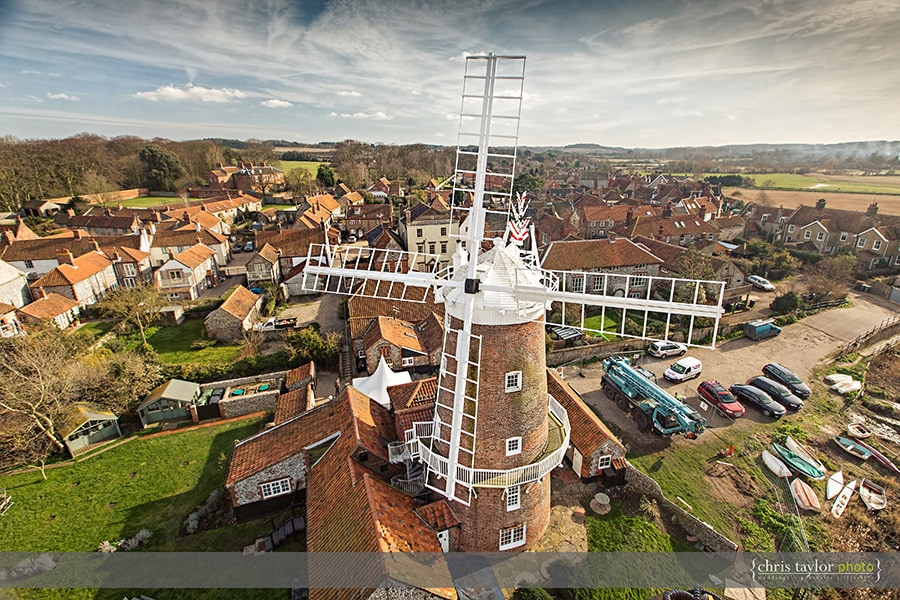 Cley mill aerial photo